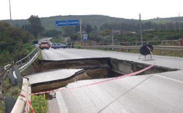 VIDEO. Statale 115 Agrigento-Sciacca, crolla ponte sul Fiume Verdura