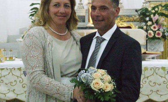 GIORNI LIETI. 25 anni di matrimonio, auguri a Ninfa e Gaetano Sciortino