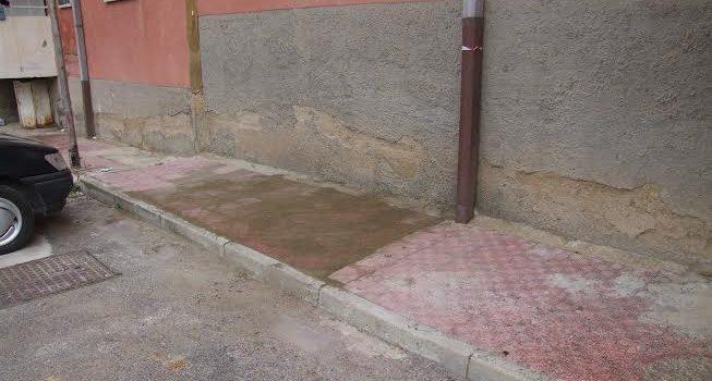 Sistemato il marciapiede sprofondato in piazza San Calogero