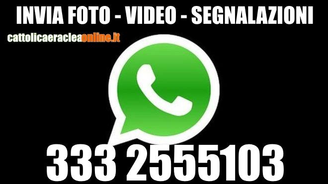 WhatsApp: invia segnalazioni, foto e video alla redazione di CEO