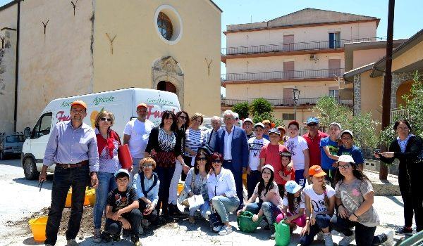 """VIDEO   Ambiente, studenti piantano alberi di ulivo a Cattolica Eraclea: """"Coloriamo di verde il paese"""""""