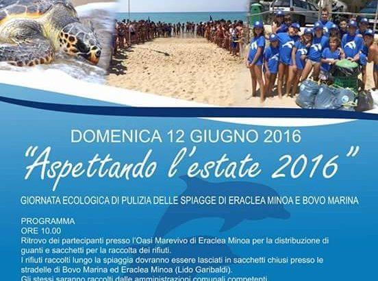 """""""Aspettando l'estate 2016"""", giornata ecologica di pulizia delle spiagge di Eraclea Minoa e Bovo Marina"""