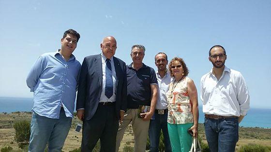 L'esperto dell'Unesco Raymond Bondin  in visita nell'area archeologica di Eraclea Minoa
