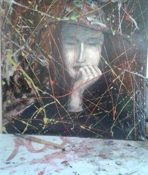 ARTE IN VETRINA. Dany con cappello, tecnica mista su tela dell'artista cattolicese Joseph (Mili) Miliziano