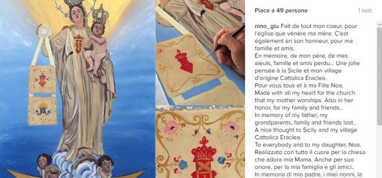 ARTE. La Madonna della Mercede da un dipinto di Antoine Giuffrida, cattolicese residente in Francia