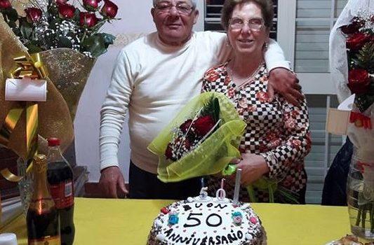 GIORNI LIETI. I 50 anni di matrimonio di Giuseppa e Vincenzo Sala