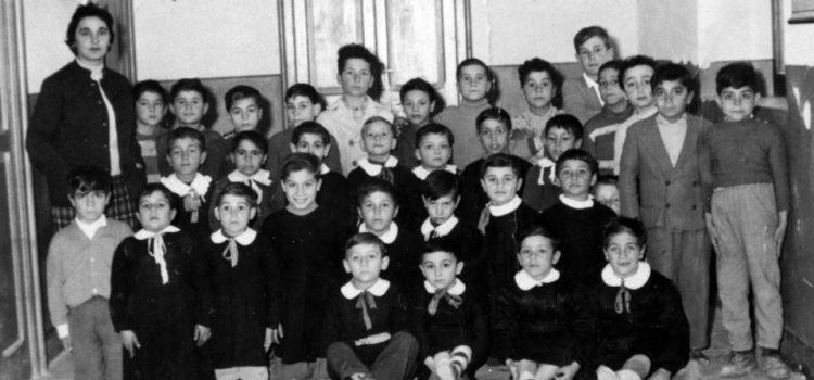Anno 1958. Scuola elementare di via Oreto