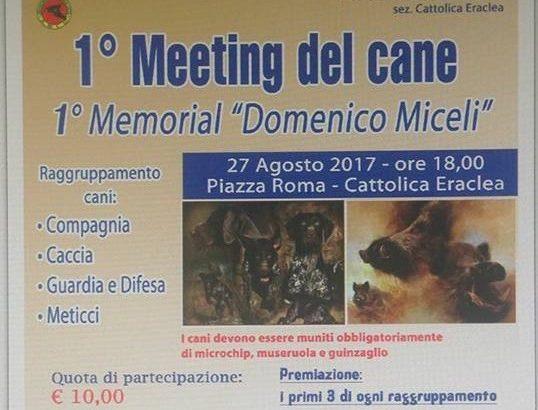 """Primo Meeting del Cane """"Memorial Domenico Miceli"""" a Cattolica Eraclea"""