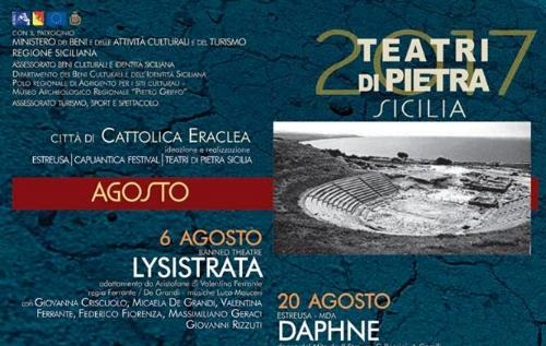 Teatri di Pietra 2017, il calendario degli spettacoli a Eraclea Minoa