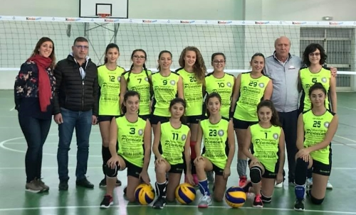 VOLLEY: BATTUTE IN CASA LE RAGAZZE  UNDER 14 DELL'ERACLEA VOLLEY