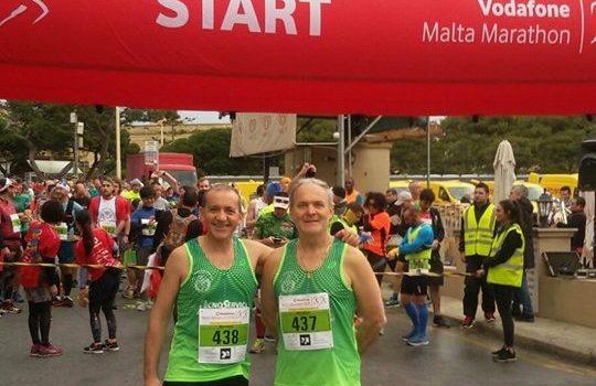 Maratona di Malta, record personale per i due atleti cattolicesi Zarelli e Aquilino