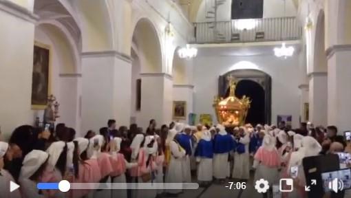 VIDEO| Venerdì Santo in diretta Facebook, conclusione nella chiesa del Rosario