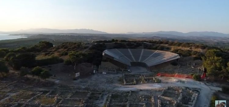 VIDEO. L'area archeologica di Eraclea Minoa vista dall'alto