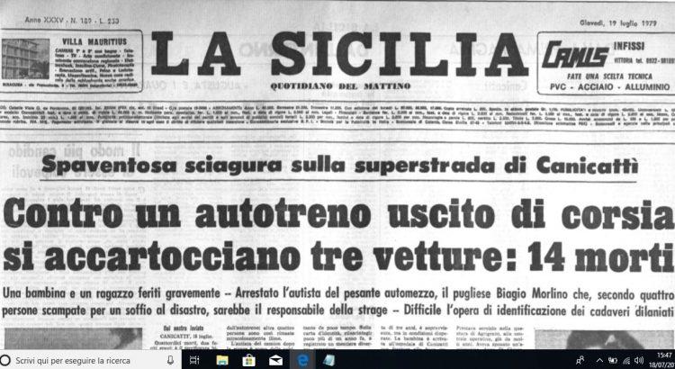 18 luglio 1979. Quarant'anni fa l'incidente che sconvolse il nostro paese