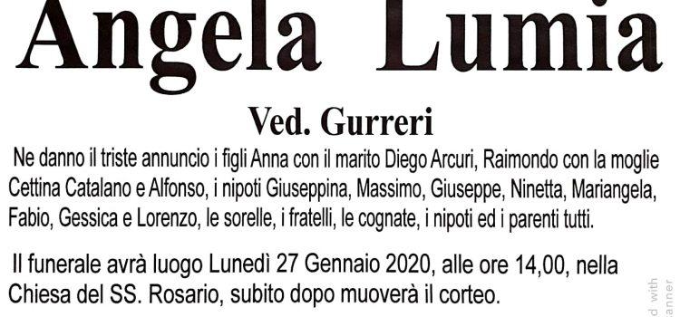 ANNUNCIO FUNEBRE – Angela Lumia