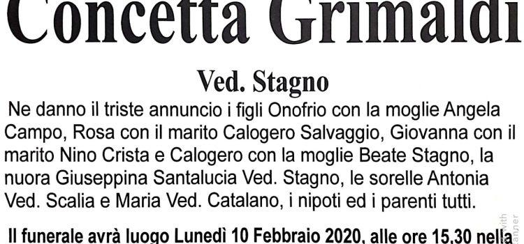 ANNUNCIO FUNEBRE – Concetta Grimaldi