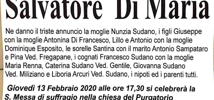 ANNUNCIO FUNEBRE – Salvatore Di Maria
